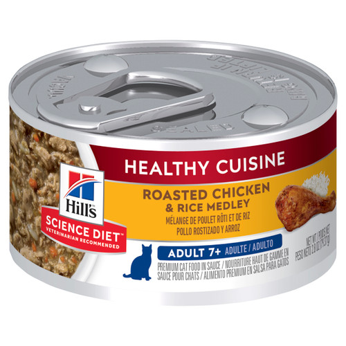 Hill's Science Diet Adult 7+ Healthy Cuisine Chicken & Rice Medley Canned Wet Cat Food