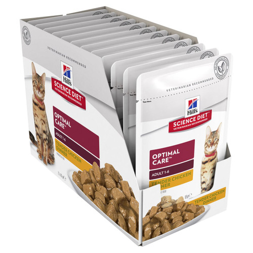 Hill's Science Diet Adult Optimal Care Chicken Pouches Wet Cat Food