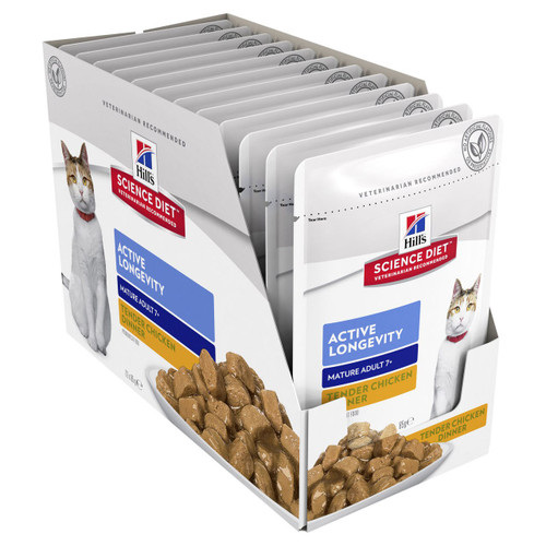 Hill's Science Diet Adult 7+ Active Longevity Chicken Pouches Wet Cat Food