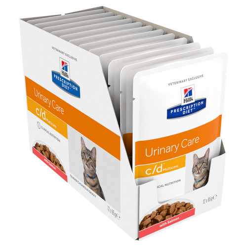 Hill's Prescription Diet c/d Multicare Salmon Wet Cat Food Pouches