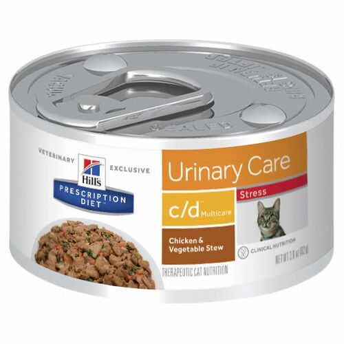 Hill's Prescription Diet c/d Multicare Stress Urinary Care Chicken & Vegetable Stew Wet Cat Food Cans