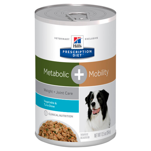 Hill's Prescription Diet Metabolic + Mobility Vegetable & Tuna Stew Canned Dog Food