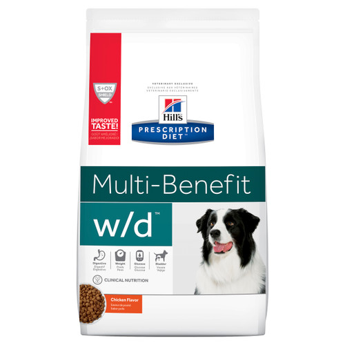 Hill's Prescription Diet w/d Multi-Benefit Digestive/Weight/Glucose/Urinary Management Dry Dog Food