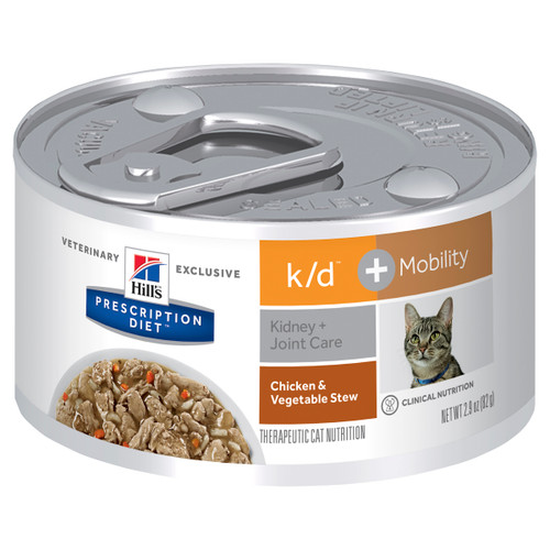 Hill's Prescription Diet k/d Kidney Care + Mobility Chicken and Vegetable Stew Canned Cat Food