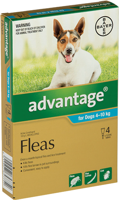 Advantage Flea Treatment For Dogs 4-10kg