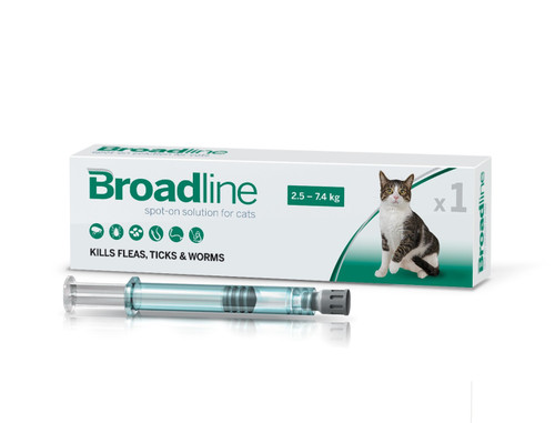 Broadline Spot On Solution For Cats 2.5-7.5kg