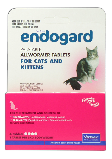 Endogard Cat Wormer Tablets