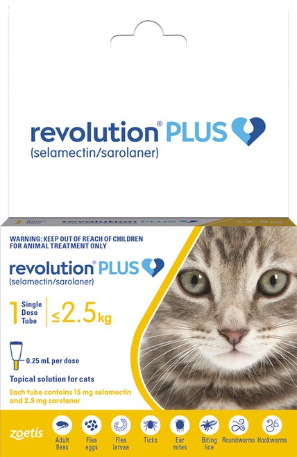 Revolution Plus Flea Treatment for Cats