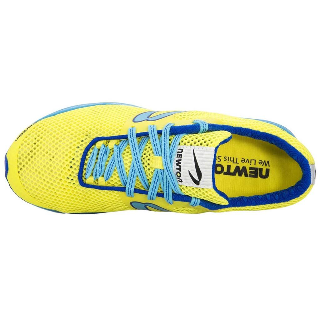 Newton Distance Elite Women Neon Yellow/Blue