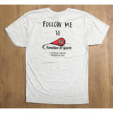 TT Logo Logo Follow Me Short Sleeve Shirt Men White