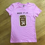 Mile Marker 34 Women's T Pink