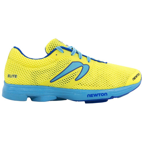 Newton Distance Elite Women Neon Yellow/Blue