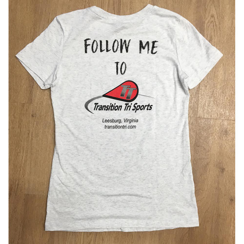 TT Logo Logo Follow Me Short Sleeve Shirt Women White