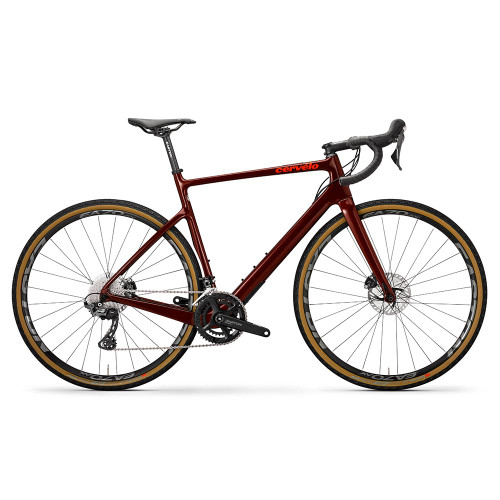 Cervelo Aspero GRX Mid Burgundy/Orange