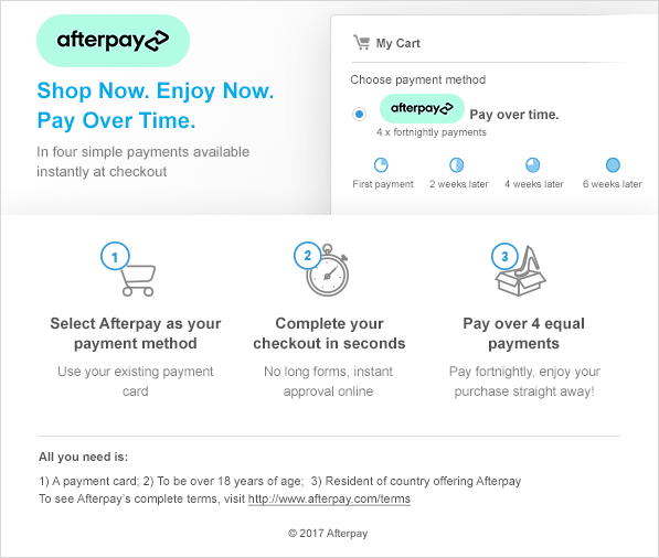 Afterpay Instruction