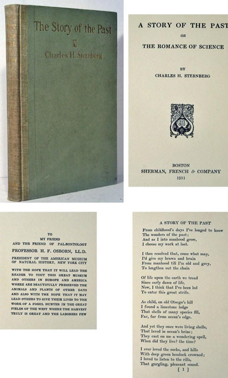 Rare Paleontology Book, Charles H  Sternberg