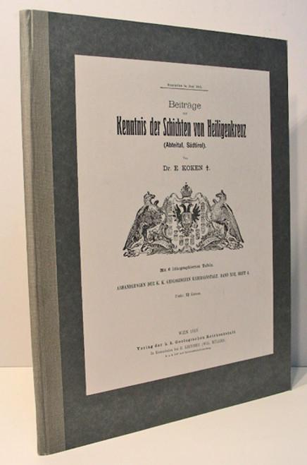 Rare Paleontology Book: Koken, Ernst; Beiträge zur Kenntnis der Schichten von Heiligenkreuz (Abteital, Südtirol). 1913