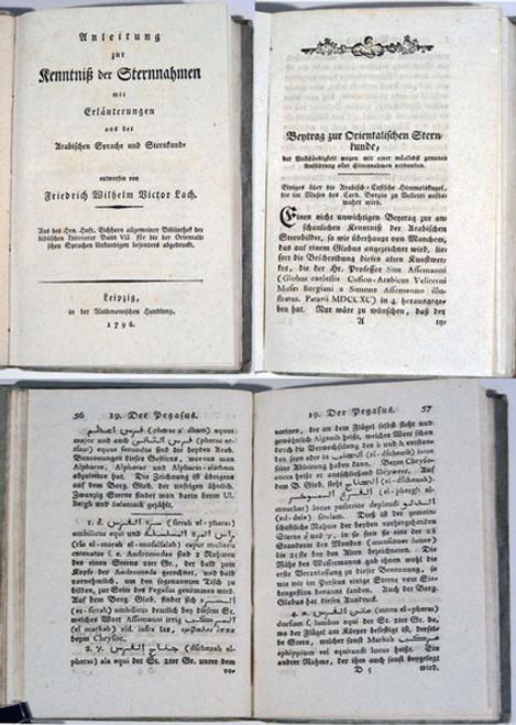 Rare Astronomy Book: Lach, Friedrich Wilhelm Victor; Anleitung zur Kenntniss der Sternnahmen mit Erläuterungen...1796.