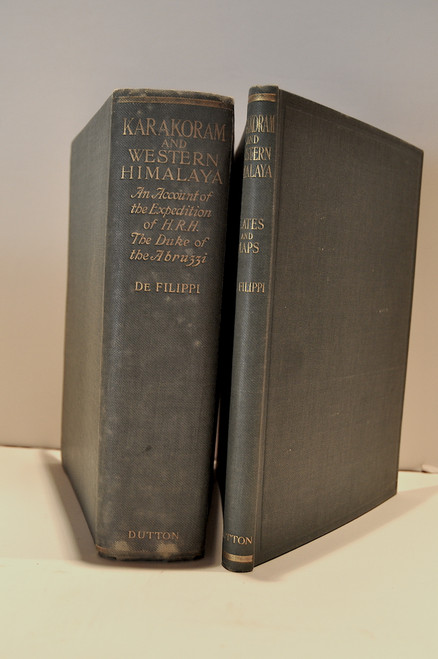 De Filippi, Filippo; Karakoram and Western Himalaya 1909, an Account of the Expedition of H. R. H. Prince Luigi Amadeo of Savoy, Duke of the Abruzzi.  1912