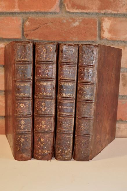 Saussure, Horace Bénédict de;  Voyages dans les Alpes précédés d'un Essai sur l'histoire naturelle des environs de Genève.