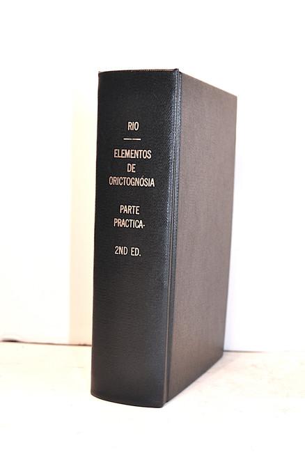 Rio, Andrés Manuel del; Elementos de Orictognosía, ó del Conocimiento de los Fósiles, 1832