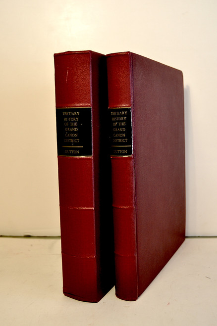 Dutton, Clarence E.; Tertiary History of the Grand Canon District with Atlas.  Field edition,  1885.