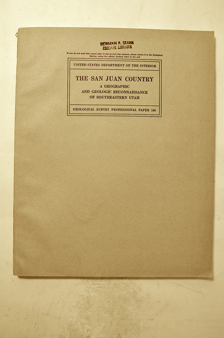 Gregory, Herbert Ernest; The San Juan Country: A Geographic and Geologic Reconnaissance of Southeastern Utah. USGS, Professional Paper 188, Washington, GPO, 1938.