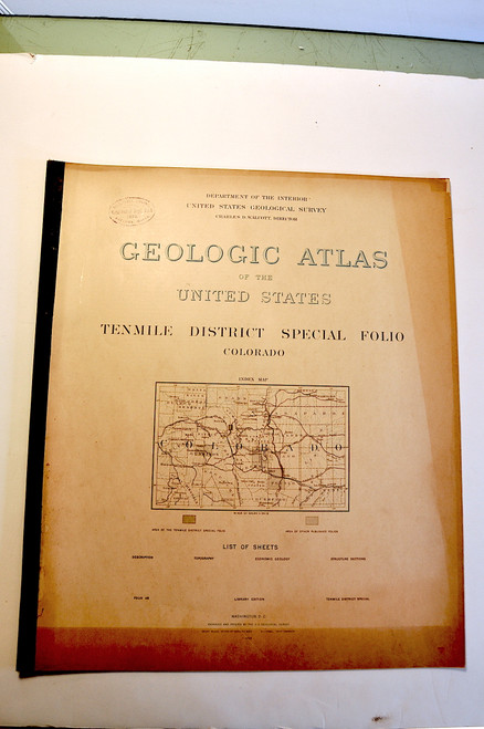 Emmons, Samuel Franklin; Tenmile District Special Folio, Colorado. Geologic Atlas Folio #48. Washington D. C., U.S. Geological Survey, 1898.