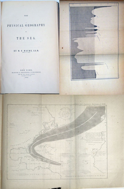 Rare book on Oceanography: Maury, M. F.; The Physical Geography of the Sea. 1st edition