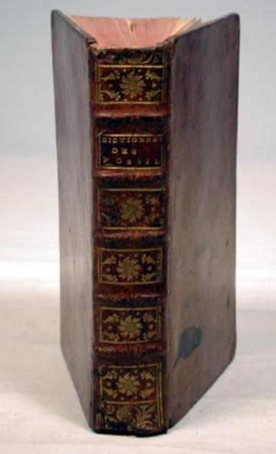 Rare geology book, Bertrand, Elie; Dictionnaire Universel des Fossiles Propres, et des Fossiles Accidentels. Contenant une Description Des Terres. Avignon, Louis Chambeau, Two parts in one volume, 1763.