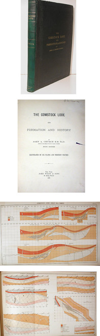 Rare Mining Book by Church, John A.; The Comstock Lode its Formation and History.