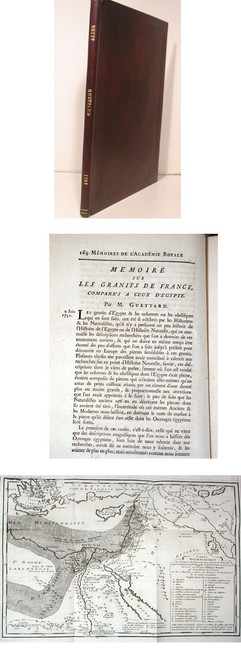 Rare geology map by Guettard, Jean Etienne; Memoire sur les Granits de France, Compares a Ceux d'Egyte.