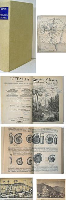Book on Geology of Italy, Stoppani, Antonio, & Negri, Gaetano, & Mercalli, Giuseppe; Geologia d'Italia