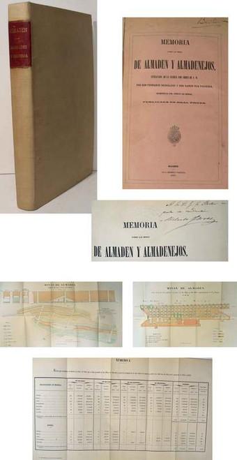Rare Mining book, F. Bernaldez, & Don Ramon Rua Figueroa, Memoria sobre las minas de Almadén y Almadenejos