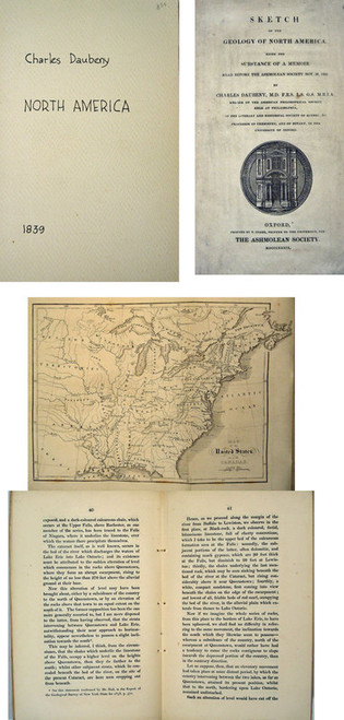 Rare geology book by Charles Daubeny, Sketch of the Geology of North America, 1839.