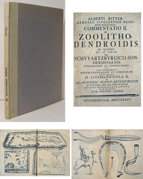 Rare gemology book, Albrecht Ritter, Commentatio II. de Zoolithodendroidis in genere et in specie de Schwartzburgico-Sonderhusanis
