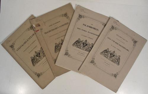 Ettingshausen, Constantin von.; Five Paleobotany works, 1852-1854
