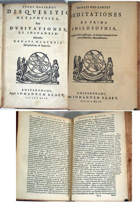 Rare science book, Gassendi, Pierre; Disquisitio Metaphysica seu Dubitationes et Instantiae Adversus Renati Cartesii Metaphysicam & Responsa. 1644