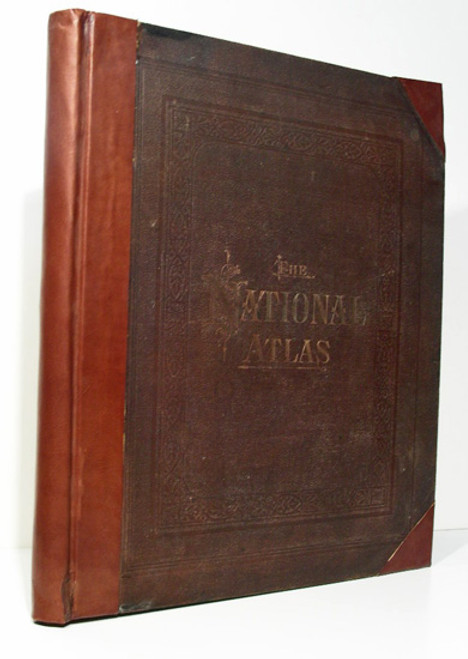 Rare National atlas, Gray, O.W. & Son; The National Atlas, Containing Elaborate Topographical Maps of the United States and the Dominion of Canada...1884