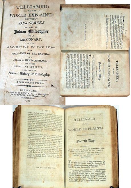 Rare geology book, Maillet, Benoit de; Telliamed; or the World Explain'd...1797