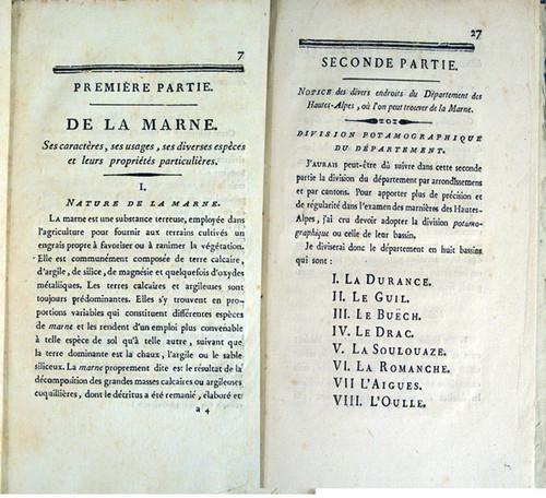 Rare Geology Book: Héricart de Thury, Louis Etienne François; Instruction sur la Marne, avec son gisement, ses caracteres. 1805.