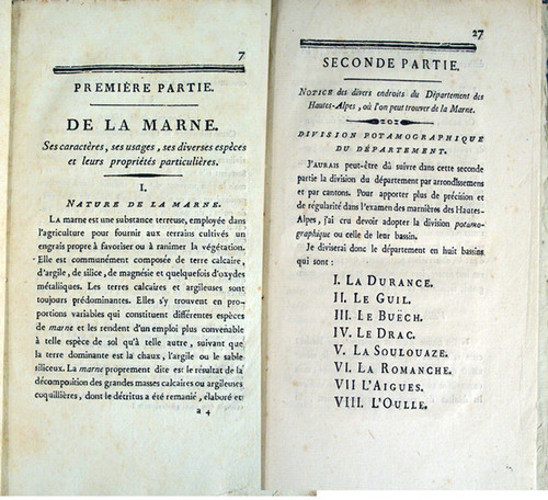 Rare Geology Book: Héricart de Thury, Louis Etienne François; Instruction sur la Marne, avec son gisement, ses caracteres. 1805.