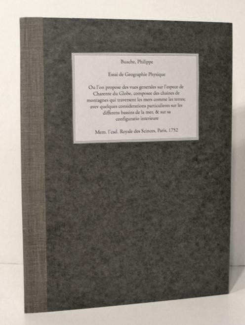Rare maps: Philippe Buache; Essai de Geographie Physique, Ou l'on Propose des Vues Generales sur l'espece de Charpente du Globe, Composee des Chaines de Montagnes. 1752.