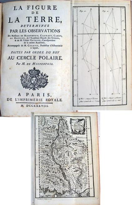 Rare Science Book,  Pierre Louis Moreau de Maupertuis; La Figure de la Terre, 1738.