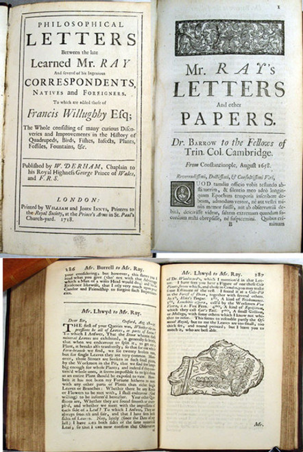 Rare Geology Book: Ray, John; Philosophical letters between the late learned Mr. Ray and several of his ingenious correspondents, natives and foreigners.