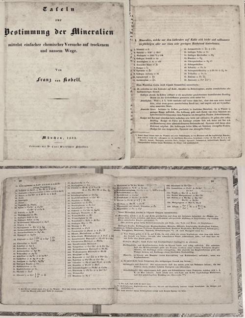 Mineralogy Book: Kobell, Wolfgang Xaver Franz von; Geschichte der Mineralogie von 1650-1860. Munich, 1864.