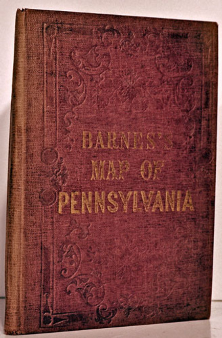 Rare Pennsylvania map: Otley, J. W.; A New County Map of the State of Pennsylvania and Adjoining States, 1852.