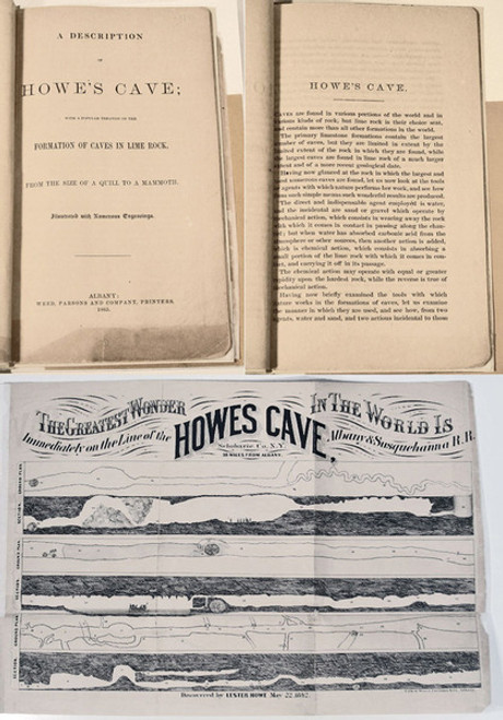 Rare Geology Book: Howe's Cave, New York; A Description of Howe's Cave; With a Popular Treatise on the Formation of Caves in Lime Rock, 1865.
