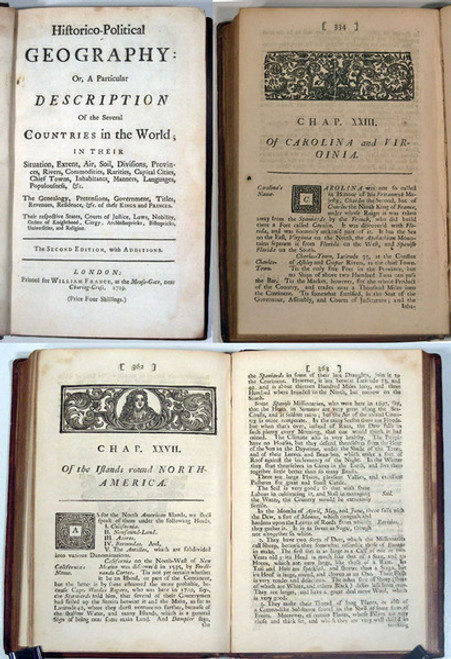 Rare Geography Book: Paschoud, Reverend Mr.: Historico-Political Geography. 1729