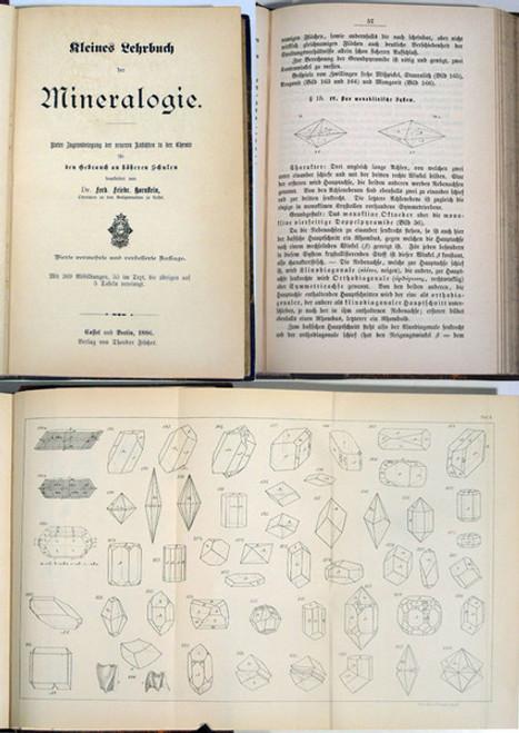 Rare Mineralogy Book: Hornstein, Ferdinand Friedrich; Kleines Lehrbuch der Mineralogie. 1886.